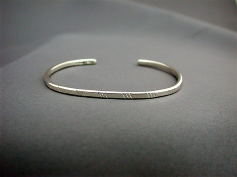 Narrow Stamped Cuff
