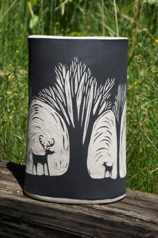 Deer-in-Forest Vase