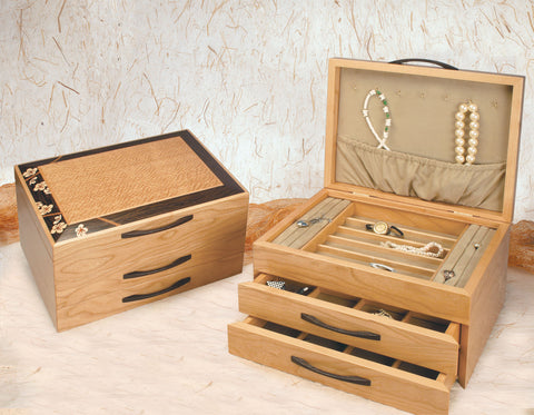 2-Drawer Cherry Blossom Jewelry Box