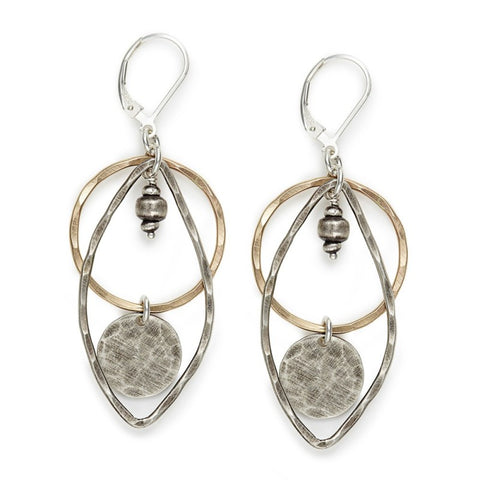 Circle & Teardrop Earrings