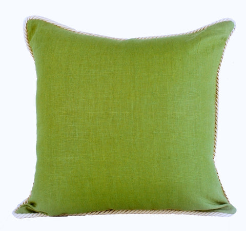 Fern Green Linen Pillow