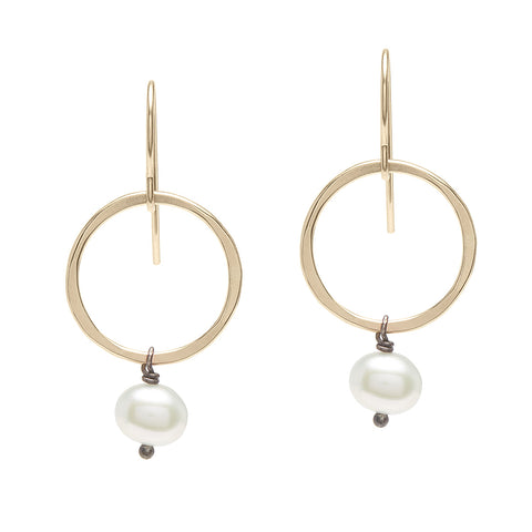 Ring & Pearl Earrings