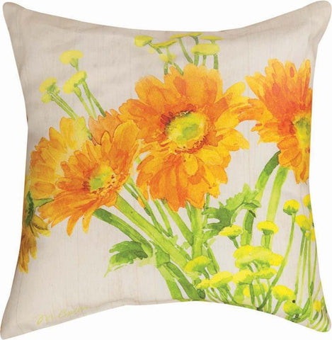 Gerbera Daisies Pillow