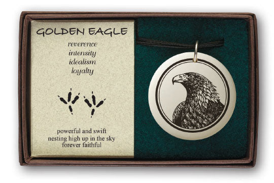 Porcelain Ornament - Golden Eagle