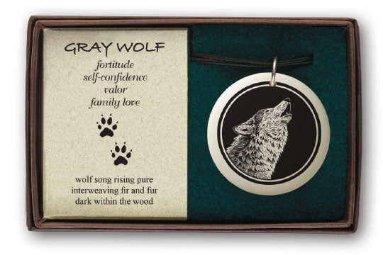 Porcelain Ornament - Grey Wolf