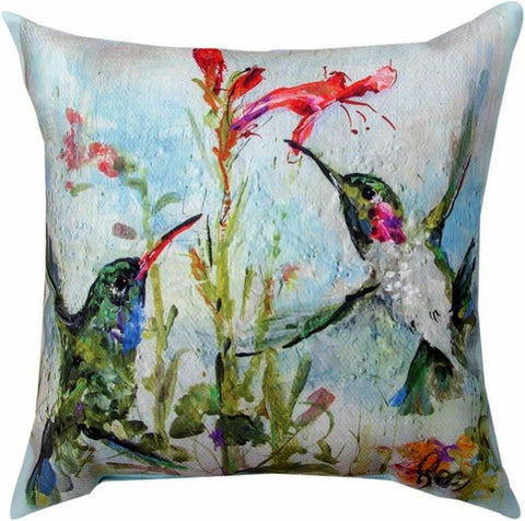 Two Hummingbirds Pillow