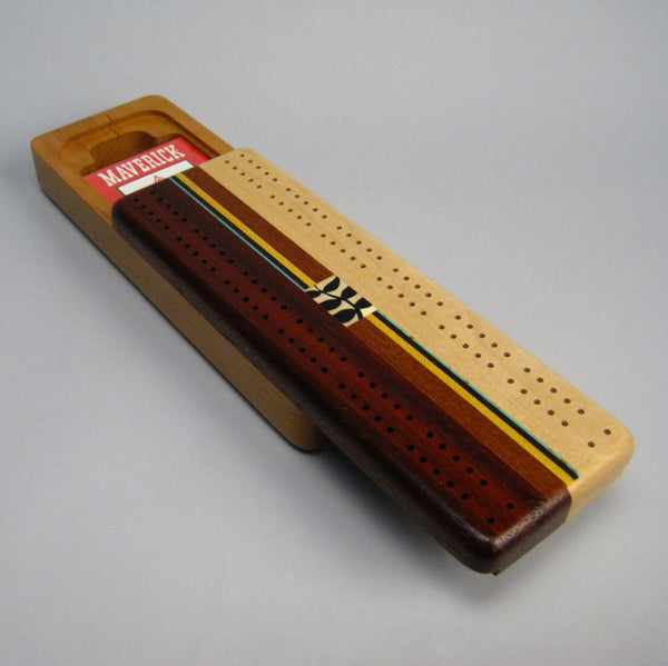 "14"" Cribbage Board w/ Pegs & Cards"