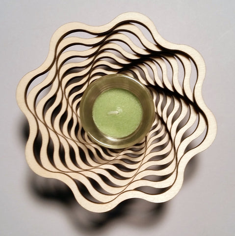 Candle Votive Holder - Spiral
