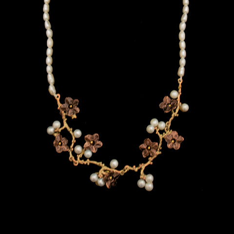 Ume & Pearls Necklace