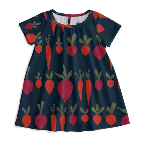 Azalia Baby Dress - Root Vegetables