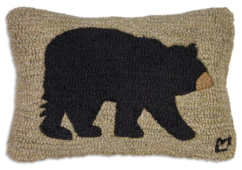 Hooked Wool Pillow - Big Bear