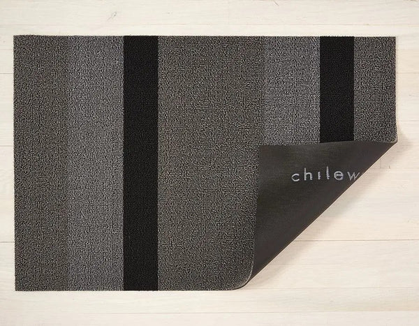 Indoor/Outdoor Bold Stripe - Silver & Black