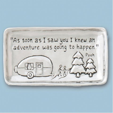 Small Pewter Tray - Camper