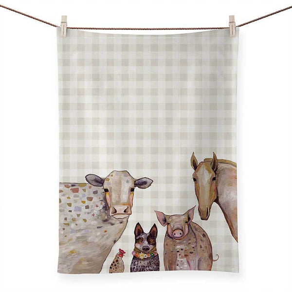 Cattle Dog & Crew Tea Towel