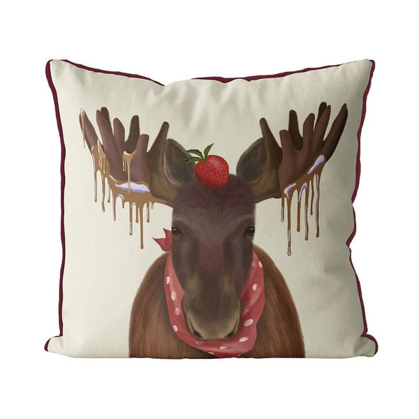 Chocolate Moose Pillow