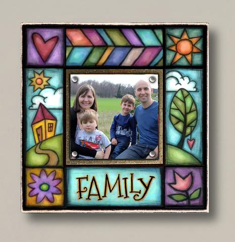 Small Magnetic Picture Frame - 'Family'