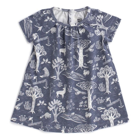 Forest Dress in Slate Blue