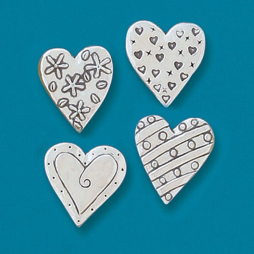 Magnet Set - 4 Hearts