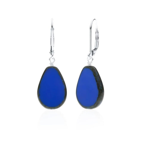 Full Circle Teardrop Earrings - Periwinkle