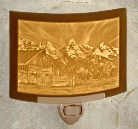 Porcelain Night Light - Teton Sunset