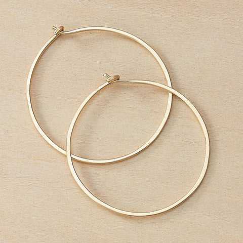 Goldlfill Minimal Hoop Earrings