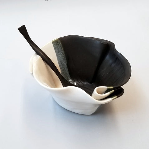 Guacamole Bowl - Black & White
