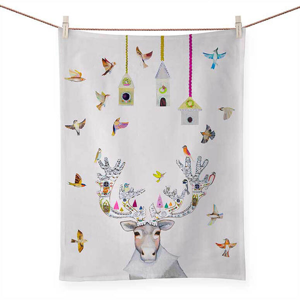 Gingerbread Caribou Tea Towel