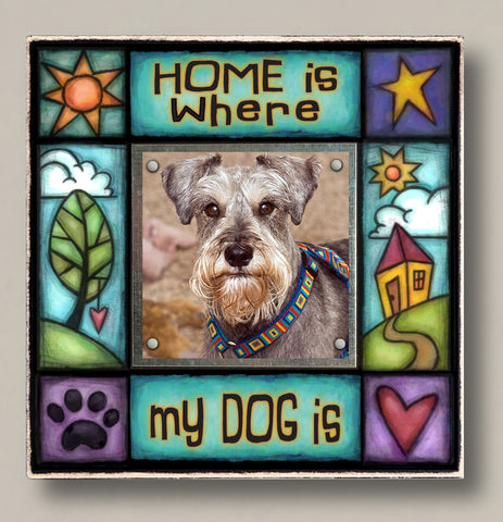 Small Magnetic Picture Frame - 'Home Is Where My Dog Is'