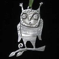 Pewter Ornament - Hoot