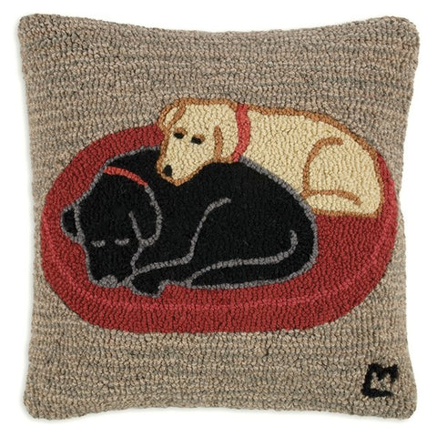 Hooked Wool Pillow - Jack & Jill
