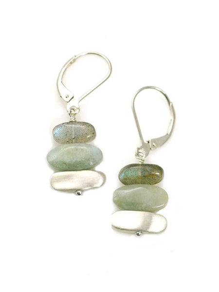 Labradorite & Aqua Earrings