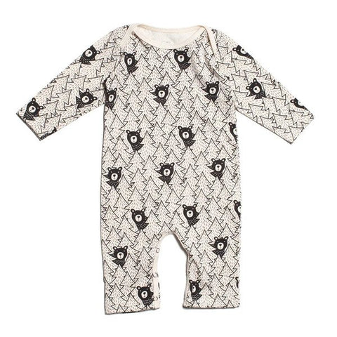 Bears Black Long Sleeve Romper