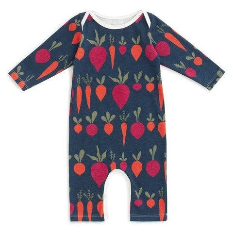 Root Vegetables Night Sky Long Sleeve Romper