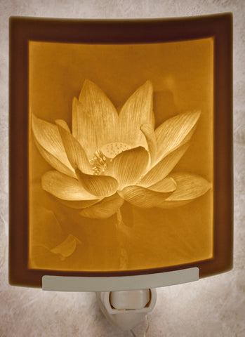 Porcelain Night Light - Lotus