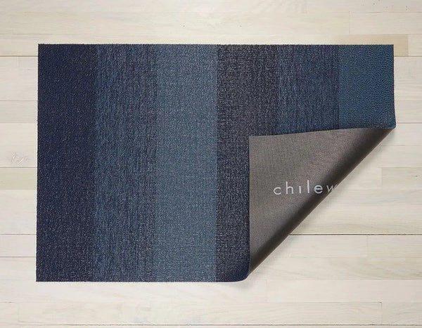 Indoor/Outdoor Marbled Stripe - Bay Blue