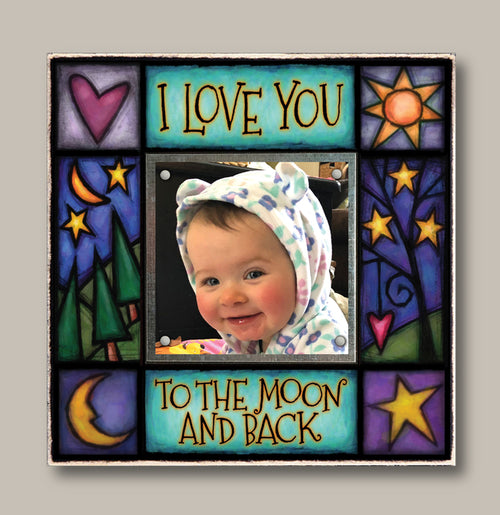 Small Magnetic Picture Frame - 'Moon and Back'