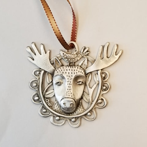 Pewter Ornament - Moose