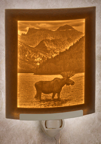 Porcelain Night Light - Majestic Moose