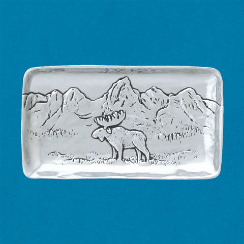 Small Pewter Tray - Moose
