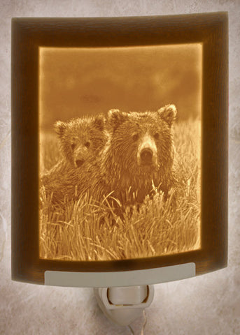 Porcelain Night Light - Mother and Cub