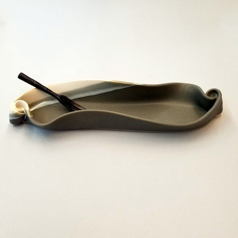 Olive Dish - Grey & White