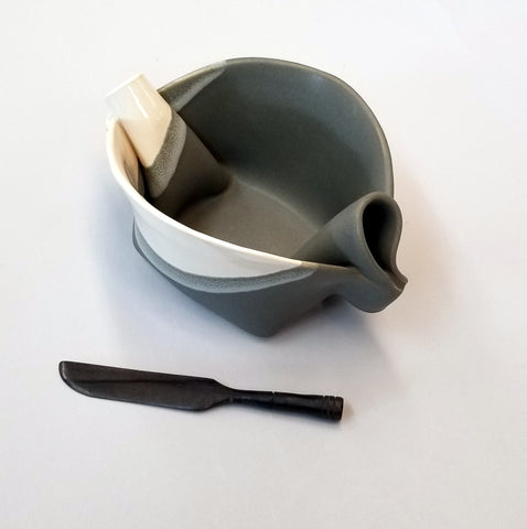 Pinch Pot - Gray & White