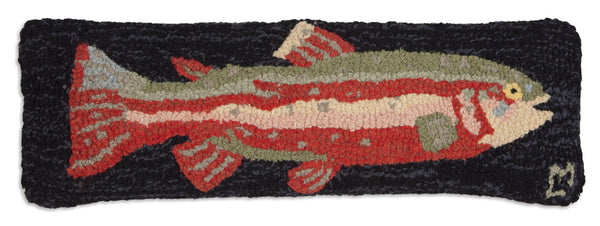 Hooked Wool Pillow - Red Trout