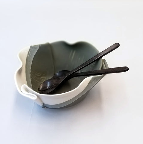 Serving Bowl - Gray & White
