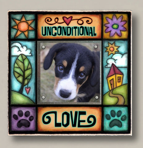Small Magnetic Picture Frame - 'Unconditional Love'