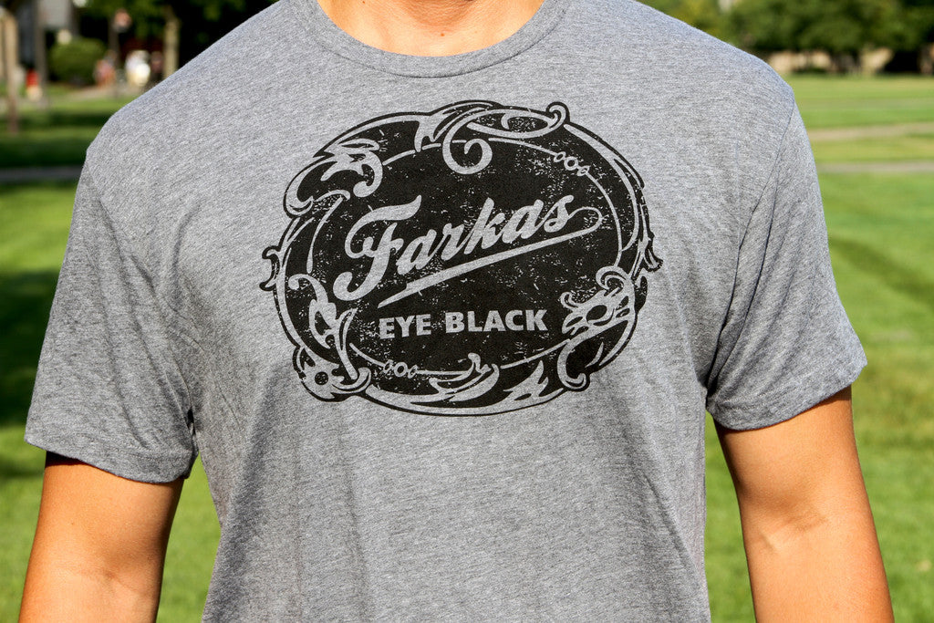 Farkas Eye Black Tee Shirt - Athletic Grey