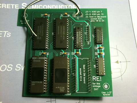 RE! board for the vintage Yamaha DX7 FM Synthesizer