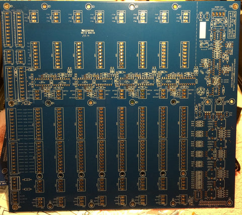 Copy of crOwBX Eight-voice Backplane plus EIGHT Voice Boards Bare PC Board Set