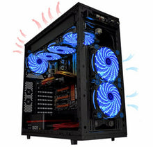 Load image into Gallery viewer, Ultra Silent 15 LED Fan w/ Anti-Vibration for PC Case