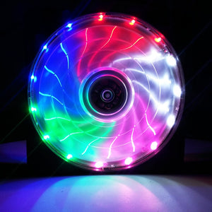 Ultra Silent 15 LED Fan w/ Anti-Vibration for PC Case